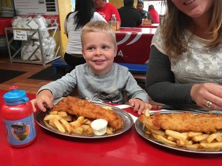 Fish&Chips bij Kalky's @ Kalk Bay